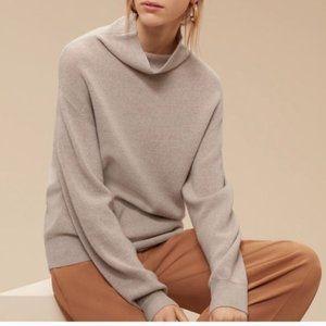 Aritzia Wilfred Montpellier XXS Beige Merino-Wool Turtleneck Sweater